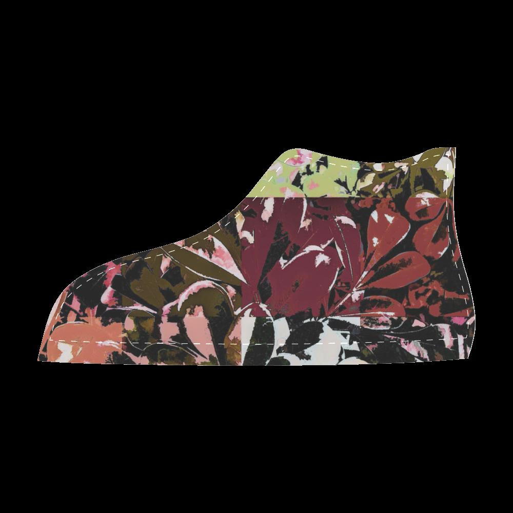 Foliage Patchwork #6 - Jera Nour Men's High Top Canvas Shoes (Model 002)