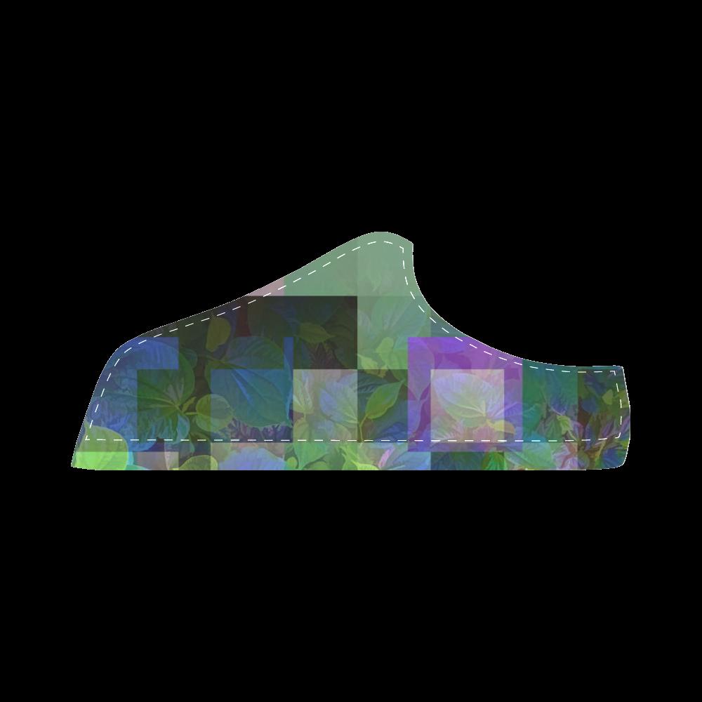 Foliage Patchwork #10 - Jera Nour Women's Chukka Canvas Shoes (Model 003)