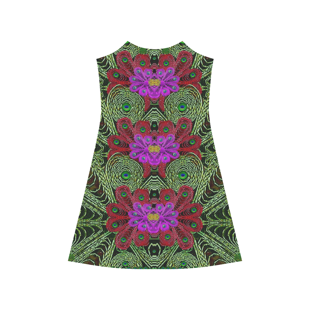 Metal Peacock In paradise Land Alcestis Slip Dress (Model D05)