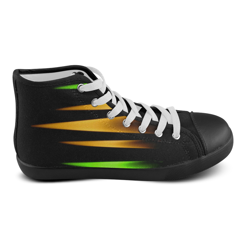 Fireworks and calming down Men's High Top Canvas Shoes (Model 002)
