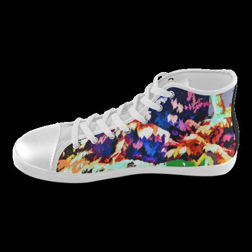 Foliage Patchwork #7 - Jera Nour High Top Canvas Kid's Shoes (Model 002)