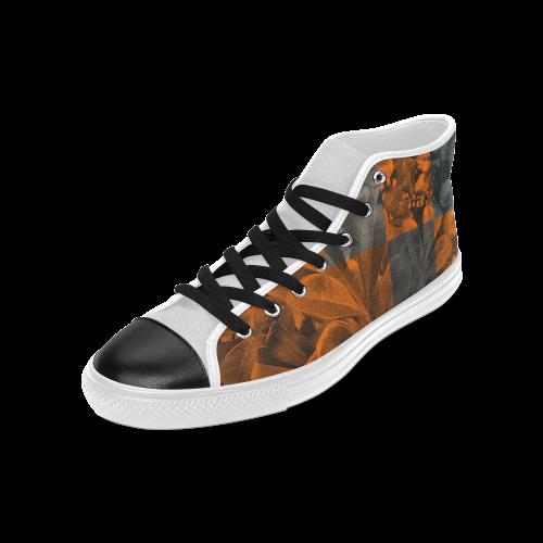 Foliage Patchwork #9 - Jera Nour Men's Classic High Top Canvas Shoes (Model 017)