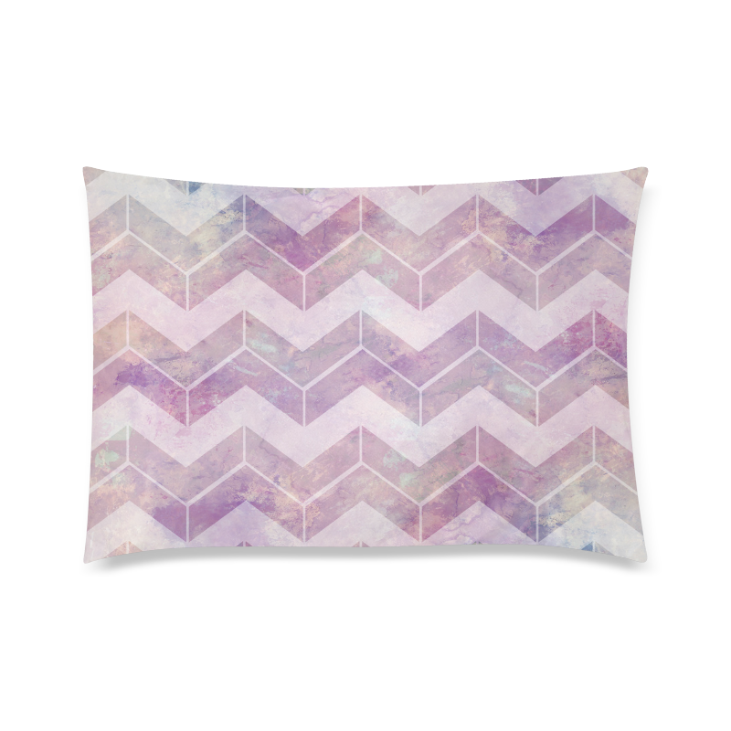 """Chevron with watercolors Custom Zippered Pillow Case 20""""x30"""" (one side)"""