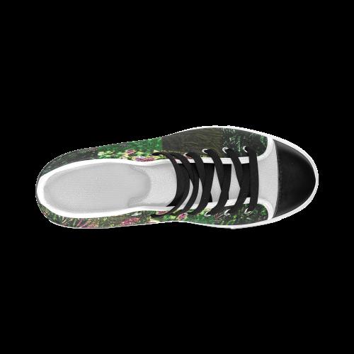 Foliage Patchwork #1 - Jera Nour Men's Classic High Top Canvas Shoes (Model 017)
