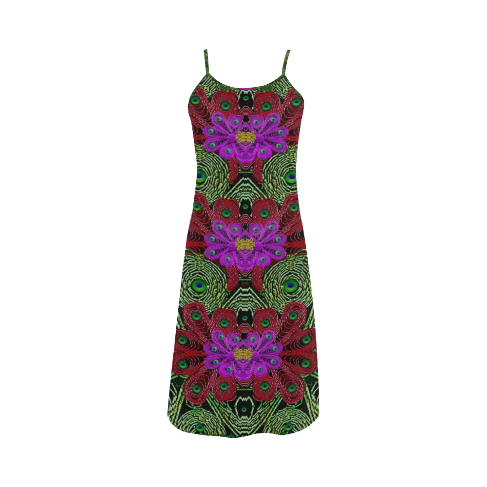 Metal Peacock In paradise Land Alcestis Slip Dress (Model D05)