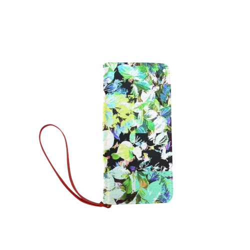 Foliage Patchwork #2 - Jera Nour Women's Clutch Wallet (Model 1637)