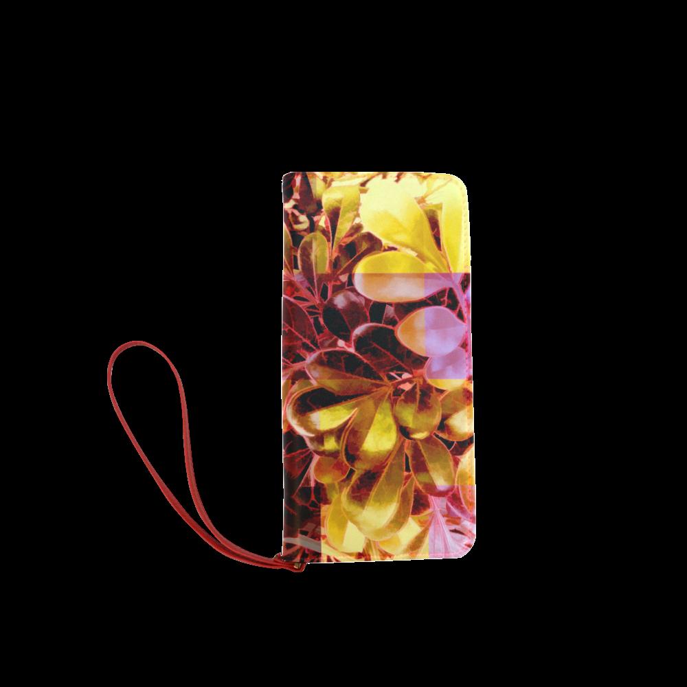Foliage Patchwork #11 - Jera Nour Women's Clutch Wallet (Model 1637)
