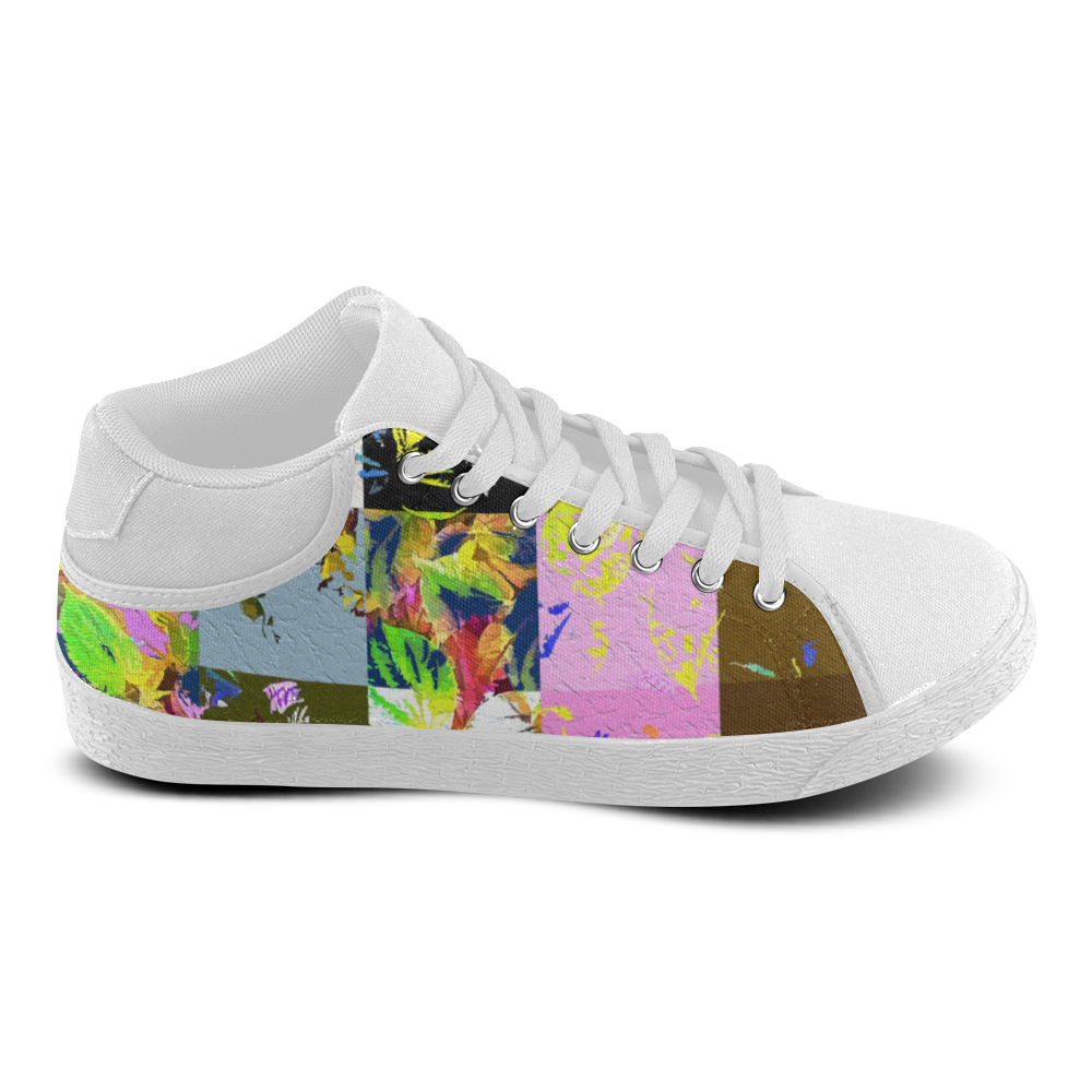 Foliage Patchwork #3 - Jera Nour Women's Chukka Canvas Shoes (Model 003)