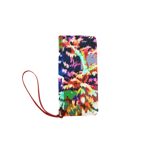 Foliage Patchwork #7 - Jera Nour Women's Clutch Wallet (Model 1637)