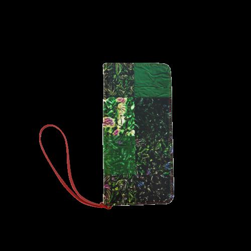Foliage Patchwork #1 - Jera Nour Women's Clutch Wallet (Model 1637)