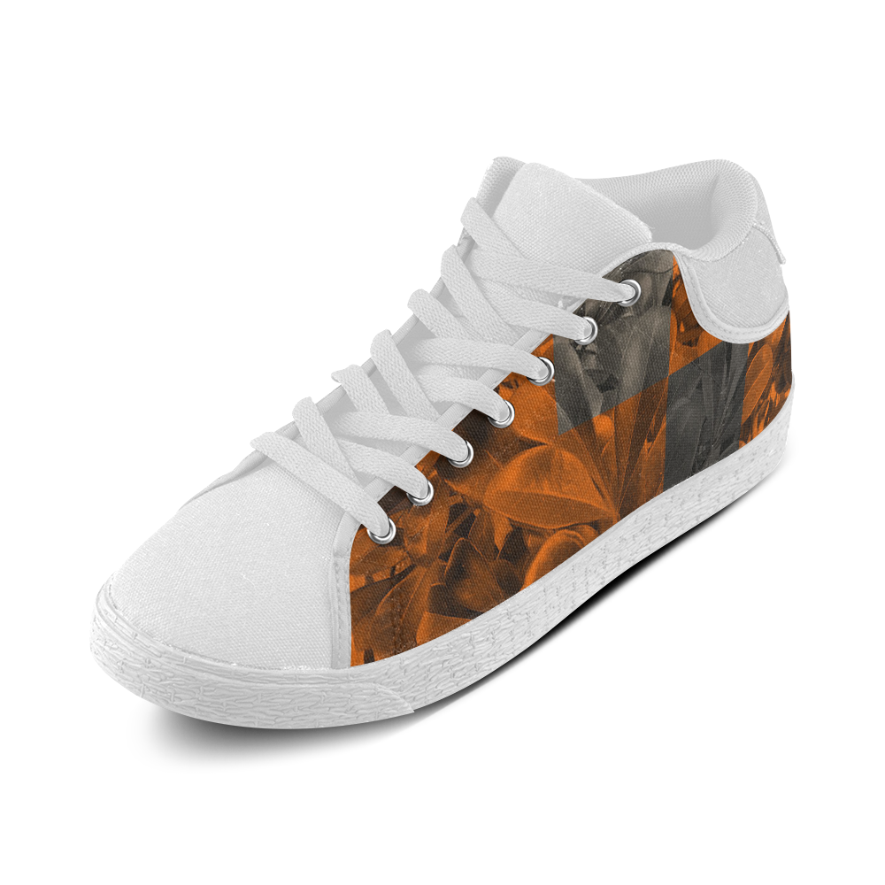 Foliage Patchwork #9 - Jera Nour Women's Chukka Canvas Shoes (Model 003)