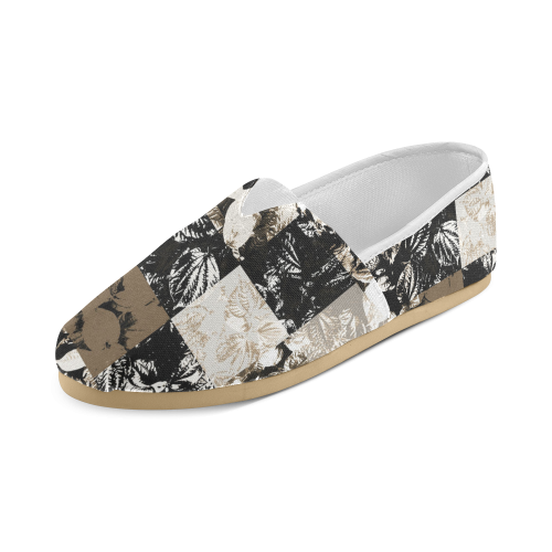 Foliage Patchwork #8 - Jera Nour Unisex Casual Shoes (Model 004)