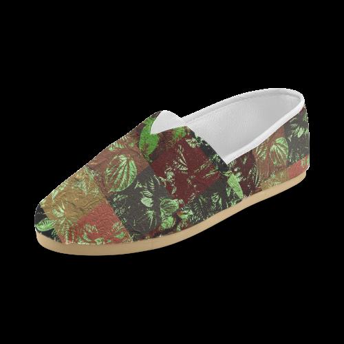 Foliage Patchwork #4 - Jera Nour Unisex Casual Shoes (Model 004)