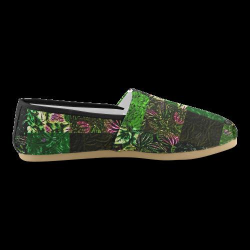 Foliage Patchwork #1 - Jera Nour Unisex Casual Shoes (Model 004)