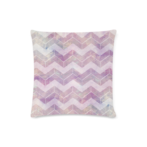 """Chevron with watercolors Custom Zippered Pillow Case 16""""x16""""(Twin Sides)"""