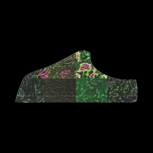 Foliage Patchwork #1 - Jera Nour Women's Chukka Canvas Shoes (Model 003)