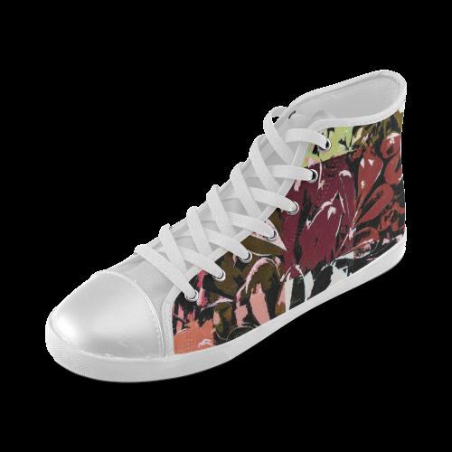 Foliage Patchwork #6 - Jera Nour High Top Canvas Kid's Shoes (Model 002)