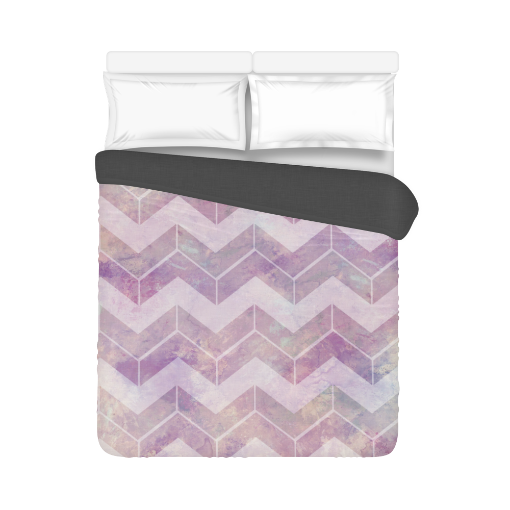 "Chevron with watercolors Duvet Cover 86""x70"" ( All-over-print)"