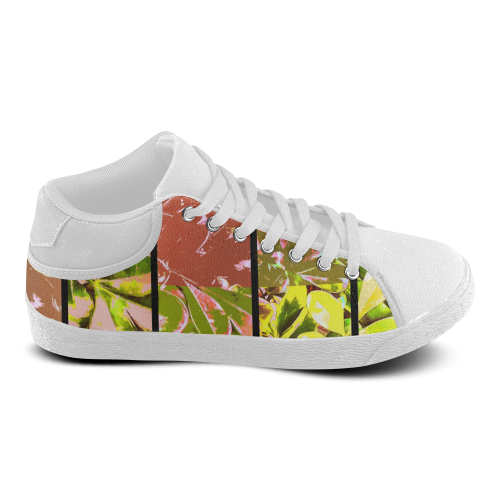 Foliage Patchwork #5 - Jera Nour Women's Chukka Canvas Shoes (Model 003)