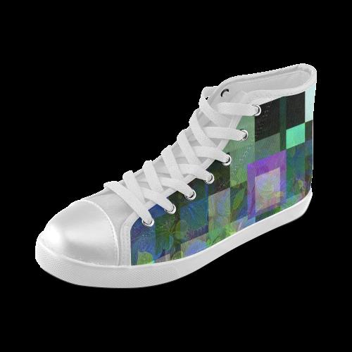Foliage Patchwork #10 - Jera Nour Women's High Top Canvas Shoes (Model 002)