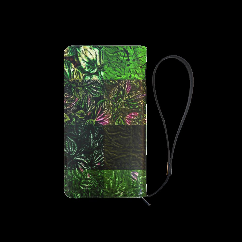 Foliage Patchwork #1 - Jera Nour Men's Clutch Purse (Model 1638)