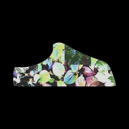 Foliage Patchwork #2 - Jera Nour Women's Chukka Canvas Shoes (Model 003)
