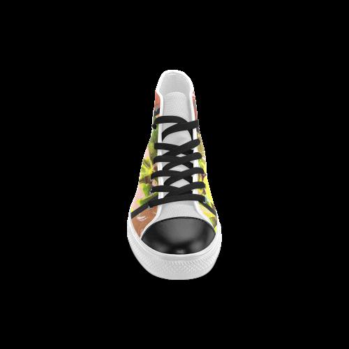 Foliage Patchwork #5 - Jera Nour Men's Classic High Top Canvas Shoes (Model 017)