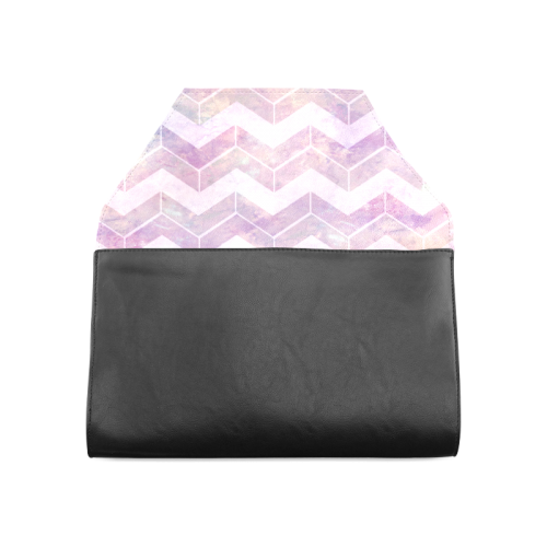Chevron with watercolors Clutch Bag (Model 1630)