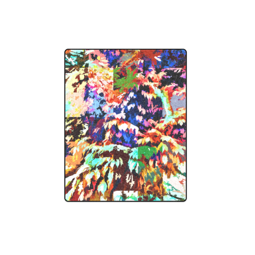 "Foliage Patchwork #7 - Jera Nour Blanket 40""x50"""