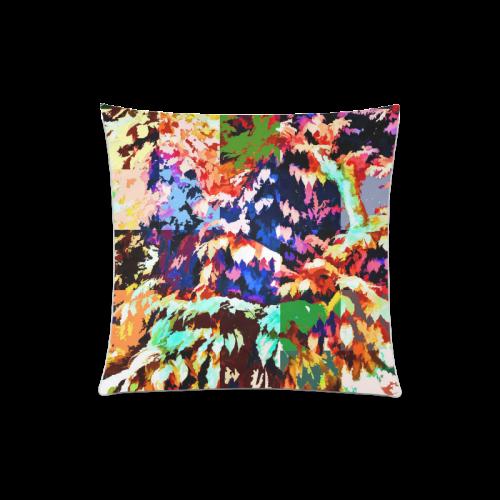 "Foliage Patchwork #7 - Jera Nour Custom Zippered Pillow Case 20""x20""(Twin Sides)"