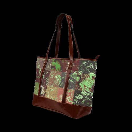 Foliage Patchwork #4 - Jera Nour Tote Handbag (Model 1642)