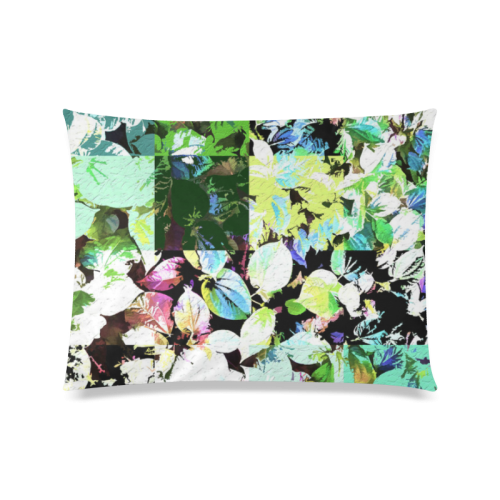 "Foliage Patchwork #2 - Jera Nour Custom Zippered Pillow Case 20""x26""(Twin Sides)"