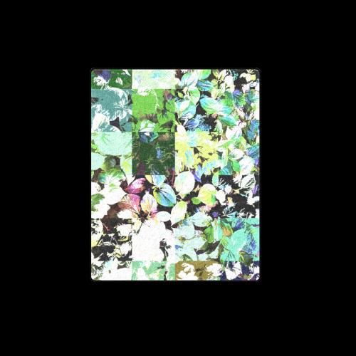 "Foliage Patchwork #2 - Jera Nour Blanket 40""x50"""