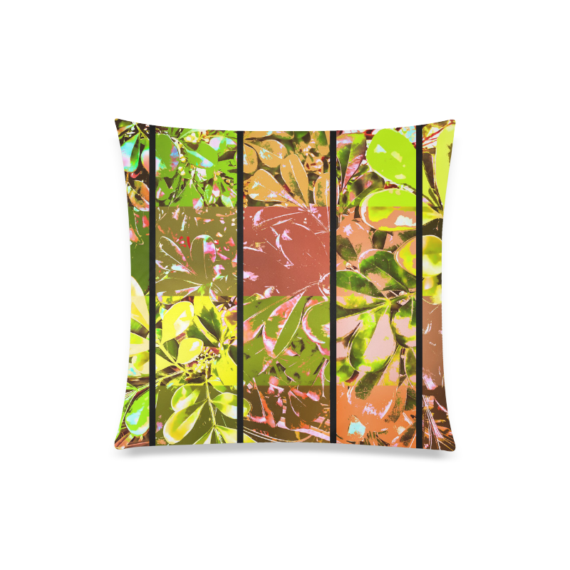 "Foliage Patchwork #5 - Jera Nour Custom Zippered Pillow Case 20""x20""(Twin Sides)"