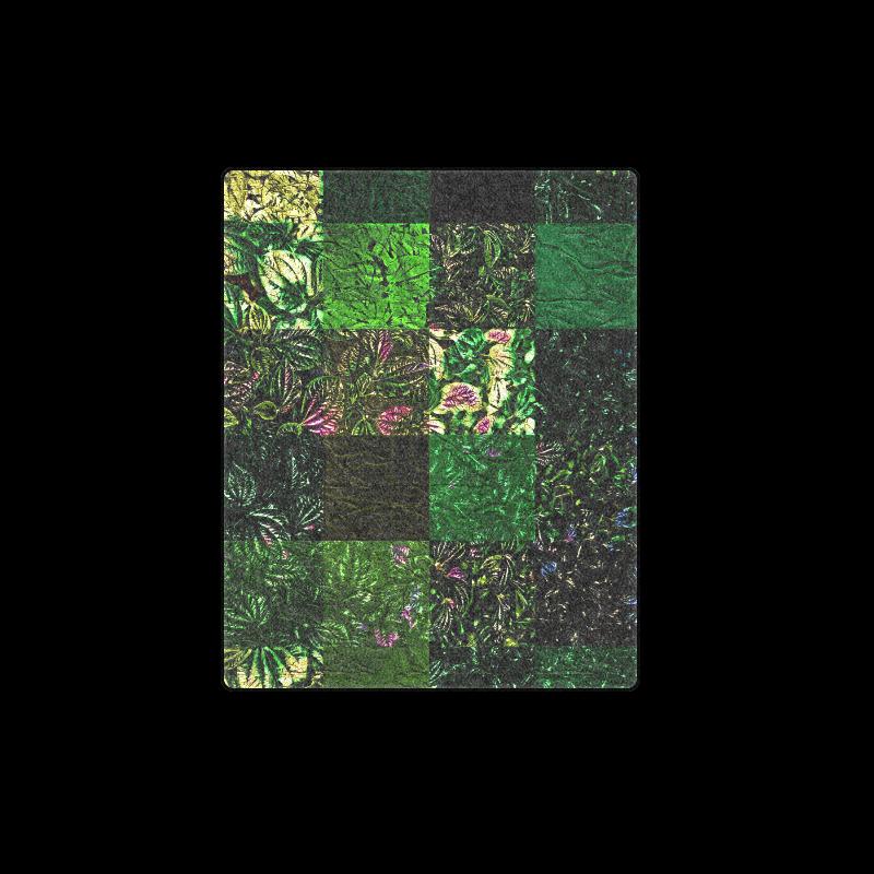 "Foliage Patchwork #1 - Jera Nour Blanket 40""x50"""