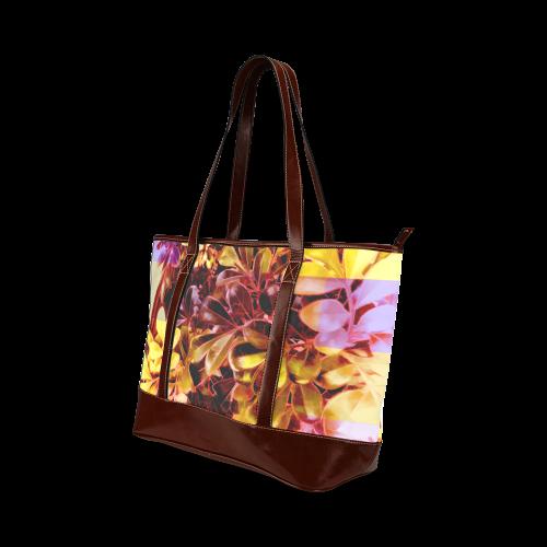Foliage Patchwork #11 - Jera Nour Tote Handbag (Model 1642)