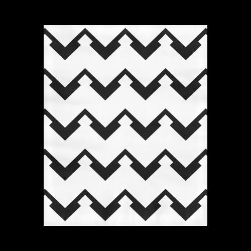 "Chevron black and white  1 Duvet Cover 86""x70"" ( All-over-print)"