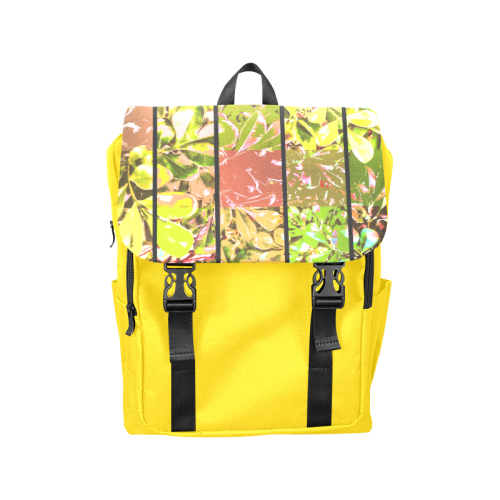 Foliage Patchwork #5 Yellow - Jera Nour Casual Shoulders Backpack (Model 1623)