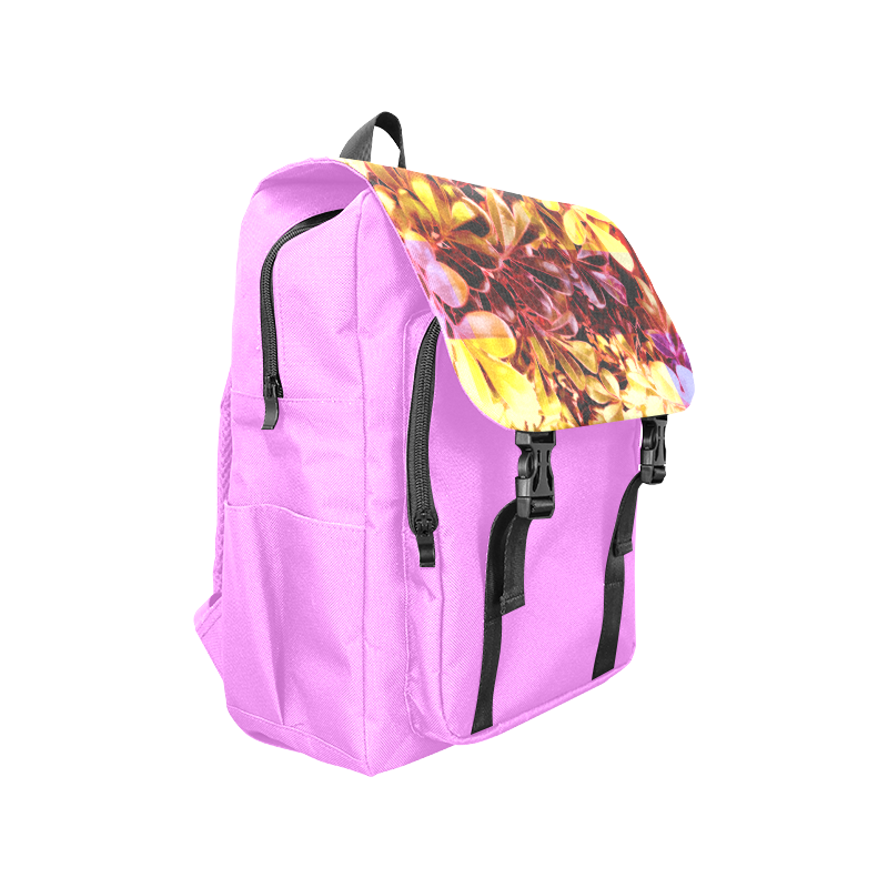 Foliage Patchwork #11 Magenta- Jera Nour - Jera Nour Casual Shoulders Backpack (Model 1623)