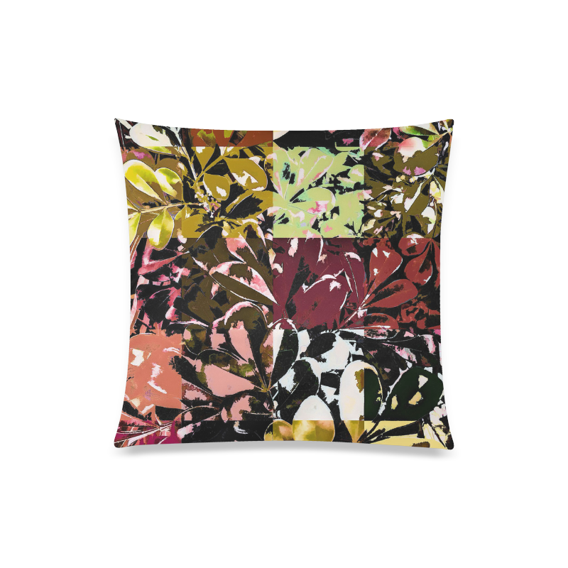 "Foliage Patchwork #6 - Jera Nour Custom Zippered Pillow Case 20""x20""(Twin Sides)"