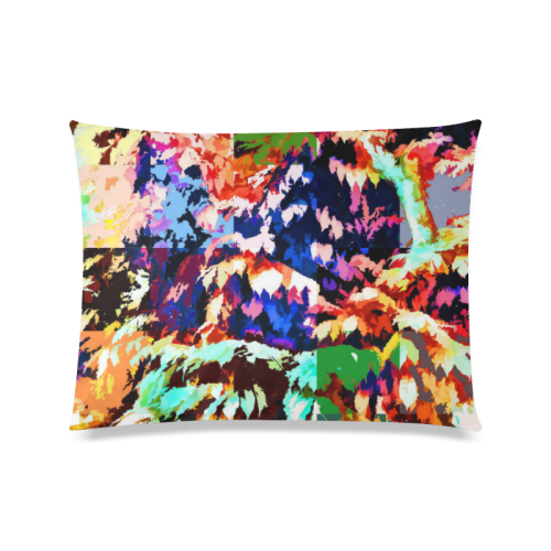 "Foliage Patchwork #7 - Jera Nour Custom Zippered Pillow Case 20""x26""(Twin Sides)"