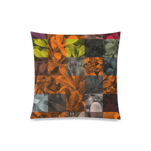 "Foliage Patchwork #9 - Jera Nour Custom Zippered Pillow Case 20""x20""(Twin Sides)"