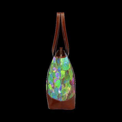 Foliage Patchwork #10 - Jera Nour Tote Handbag (Model 1642)