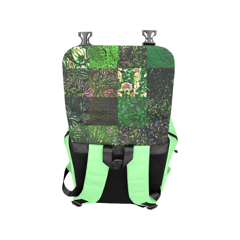 Foliage Patchwork #1 Light Green- Jera Nour Casual Shoulders Backpack (Model 1623)
