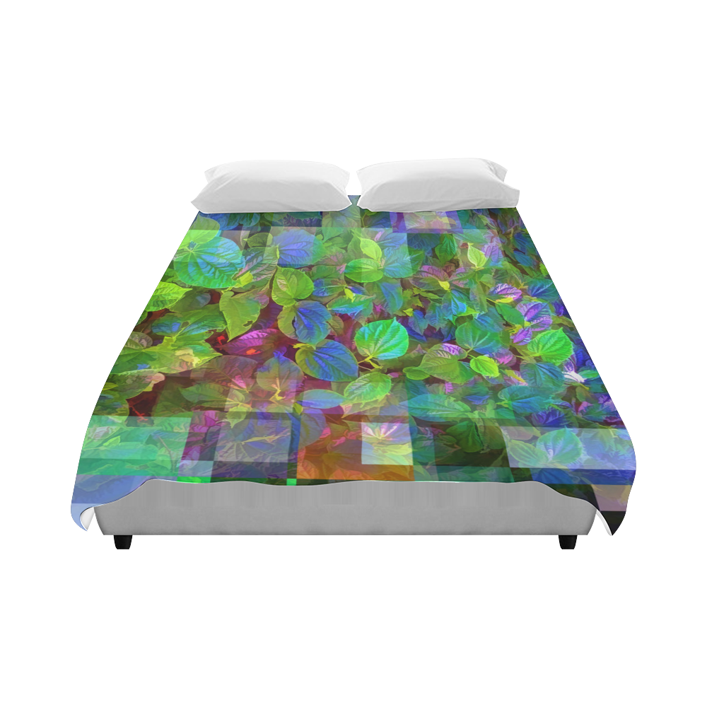 "Foliage Patchwork #10 - Jera Nour Duvet Cover 86""x70"" ( All-over-print)"