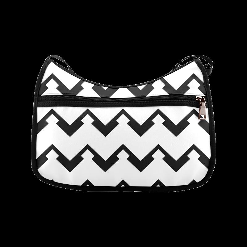Chevron black and white  1 Crossbody Bags (Model 1616)