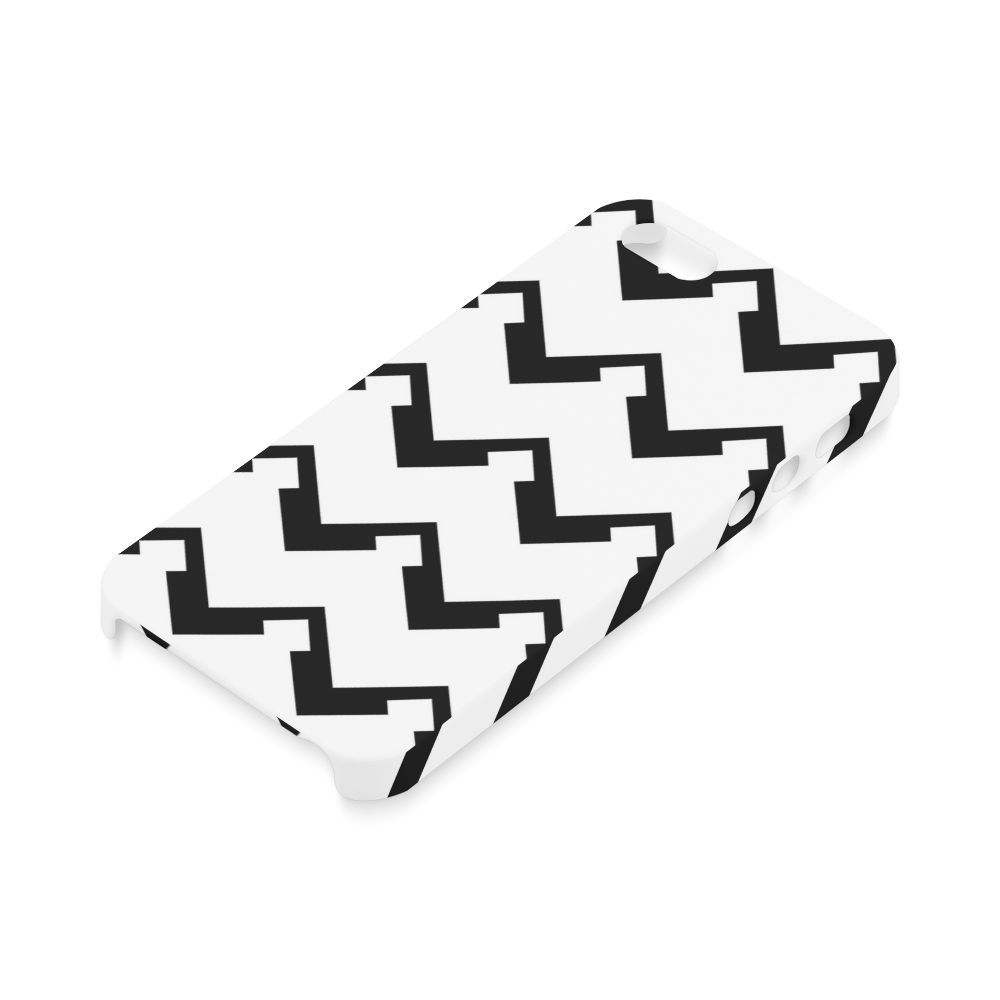 Chevron black and white  1 Hard Case for iPhone SE