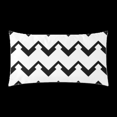 "Chevron black and white  1 Custom Rectangle Pillow Case 20""x36"" (one side)"