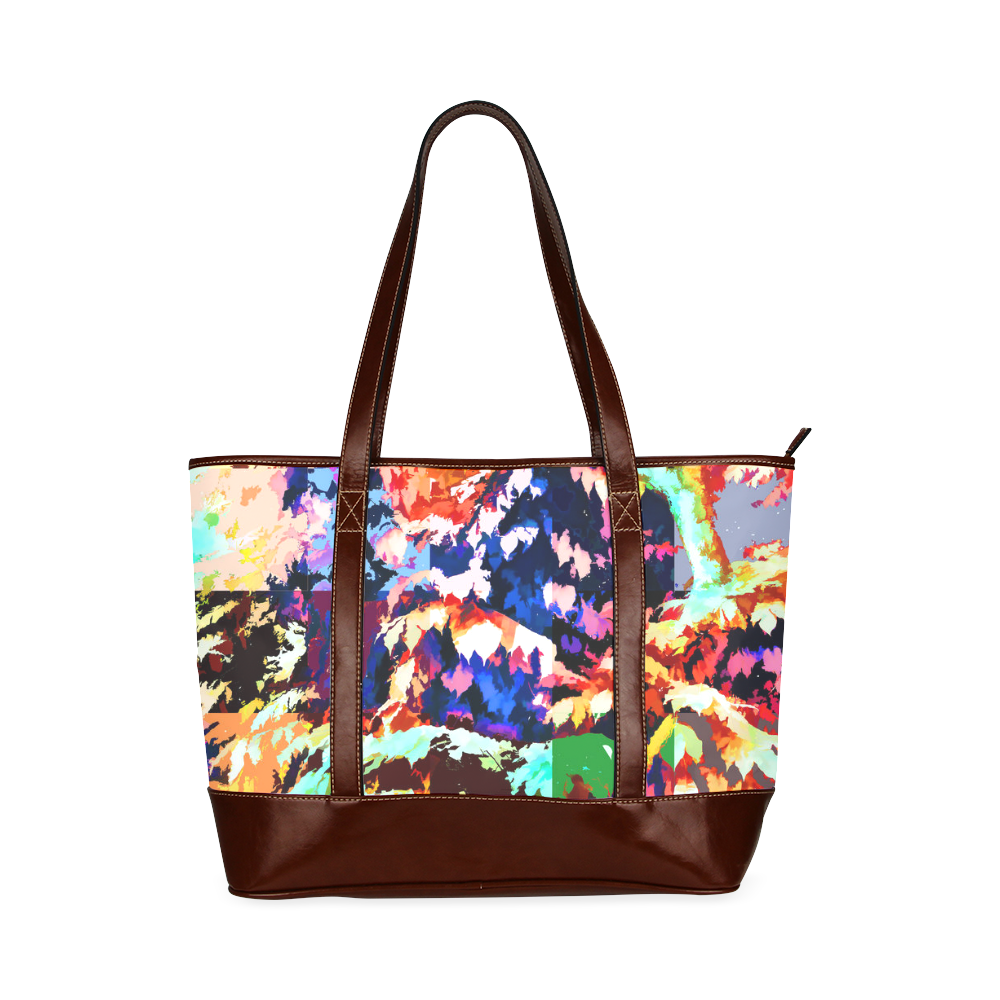 Foliage Patchwork #7 - Jera Nour Tote Handbag (Model 1642)