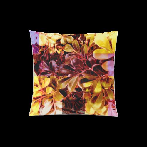 "Foliage Patchwork #11 - Jera Nour Custom Zippered Pillow Case 20""x20""(Twin Sides)"